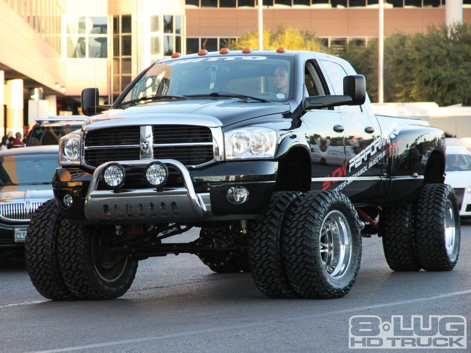 Big boy toys car  If i bought a truck it would be this BIG Dodge Dually wheel haha