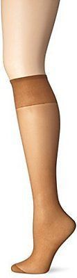 Just My Size Women'S Outside Knee High Panty Hose, Suntan, One Size