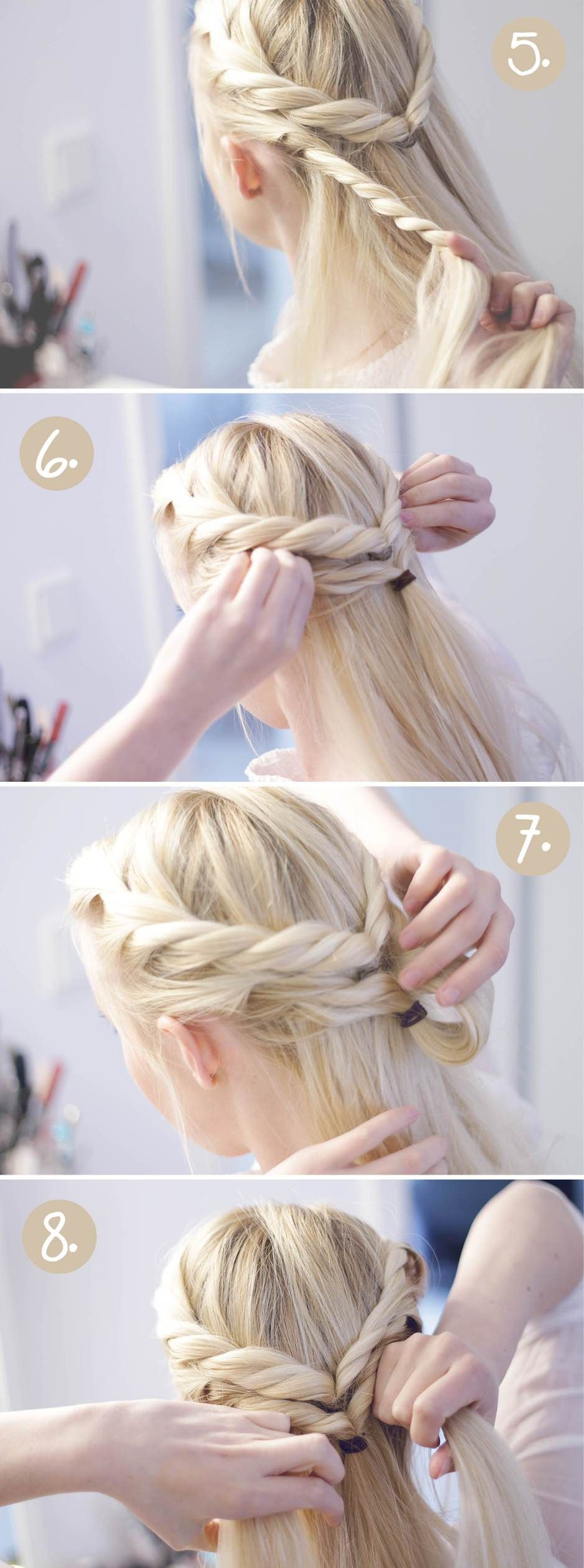 Falscher Fischgrätenzopf - Hair Tutorial #hairtutorials