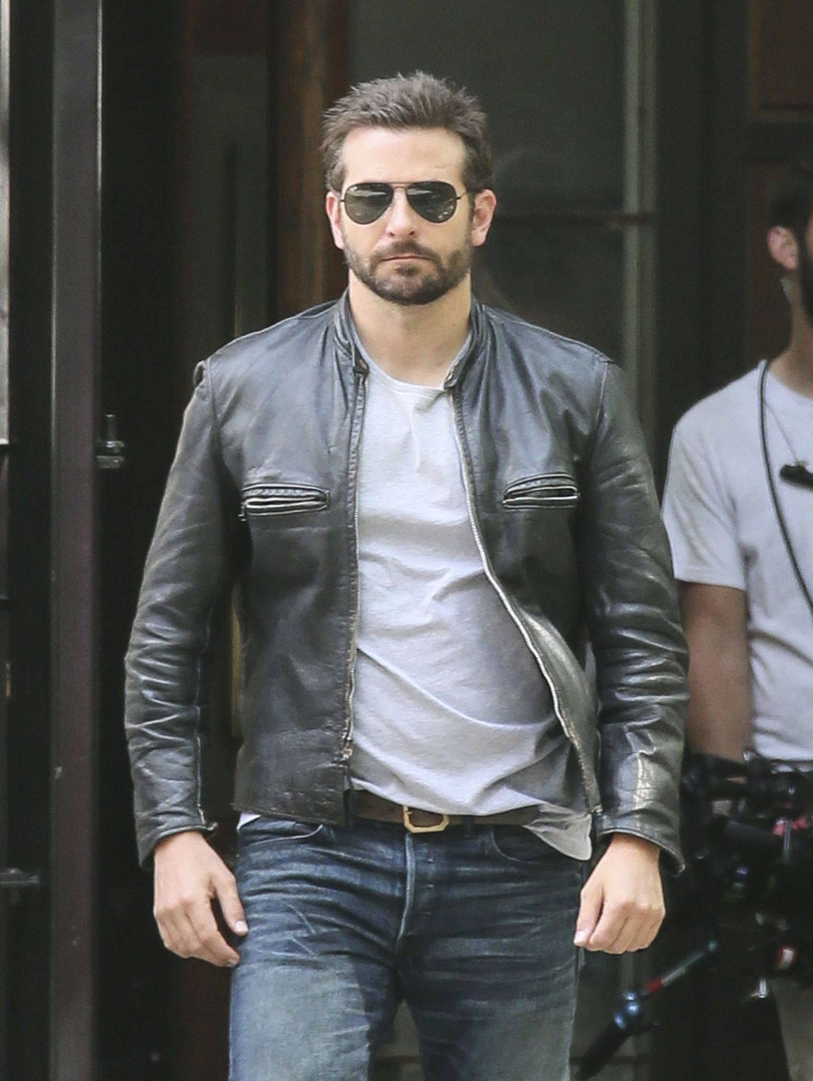 Bradley Cooper seen in in central London as he films scenes for Adam Jones. SplashNews -Cosmopolitan.com