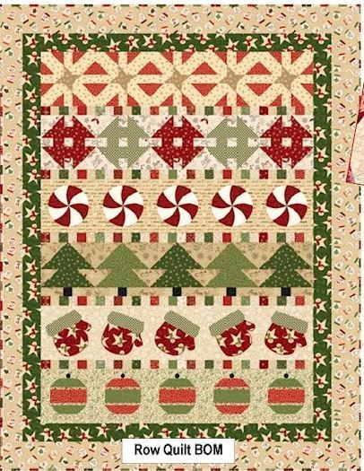 Wrapped in Joy Row Quilt BOM Row 1 | Tree quilt, Sewing crafts and ... : pinetree quilt shop - Adamdwight.com