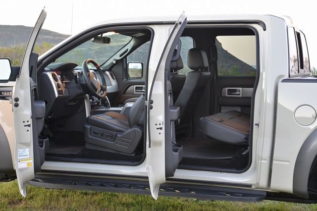 white Ford Raptor Crew Cab open doors drivers side view & white Ford Raptor Crew Cab open doors drivers side view | I am a ...