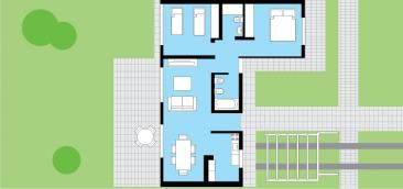 cl sica techo plano 2 dormitorio 10m procrear