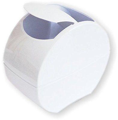 Tischabfalleimer selbstschliessend Designer Tisch-Abfallbeh/älter weiss mit praktischem Klappdeckel