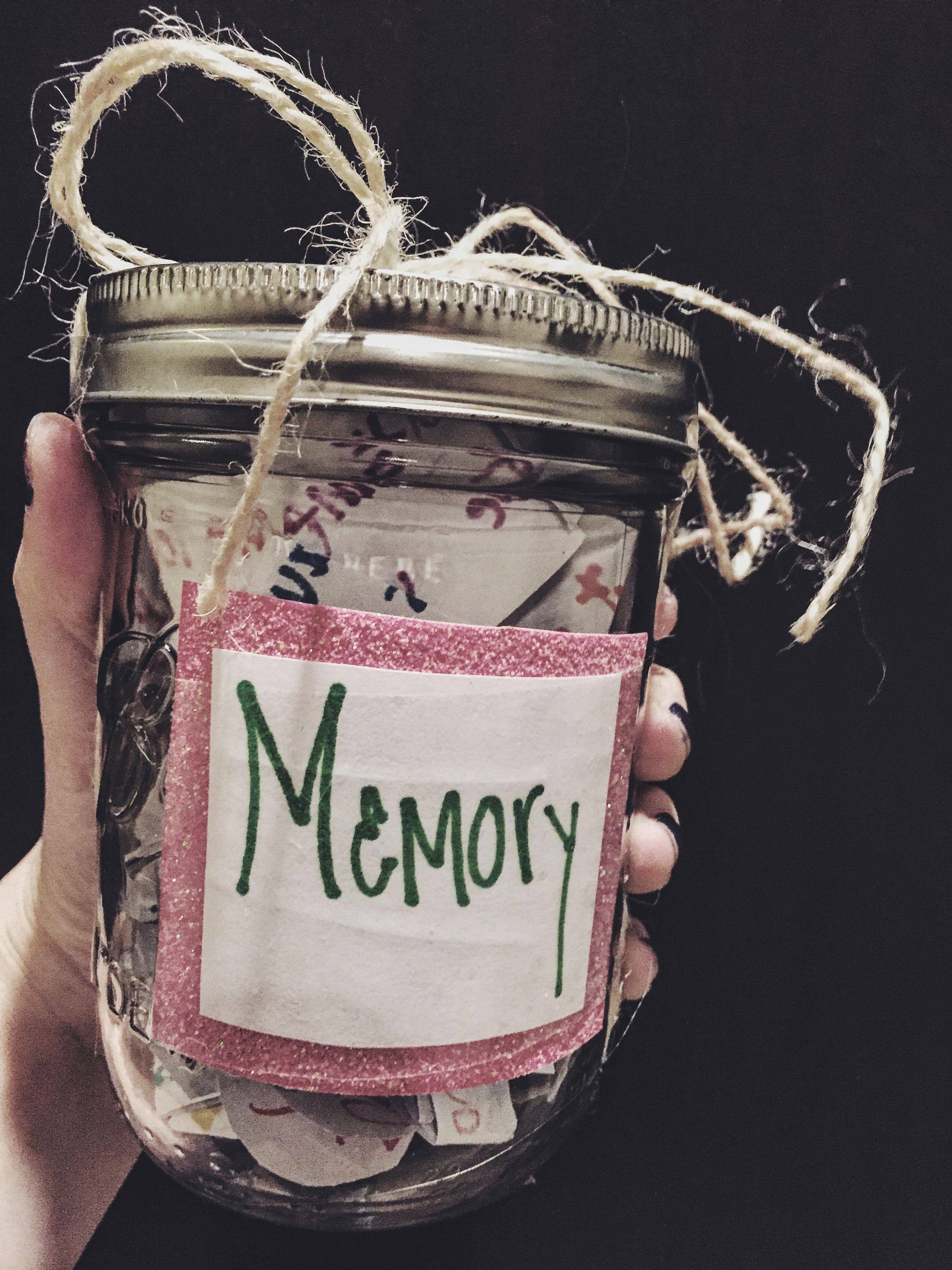 Memory jar good for best friend gifts bestfriend pinterest jar