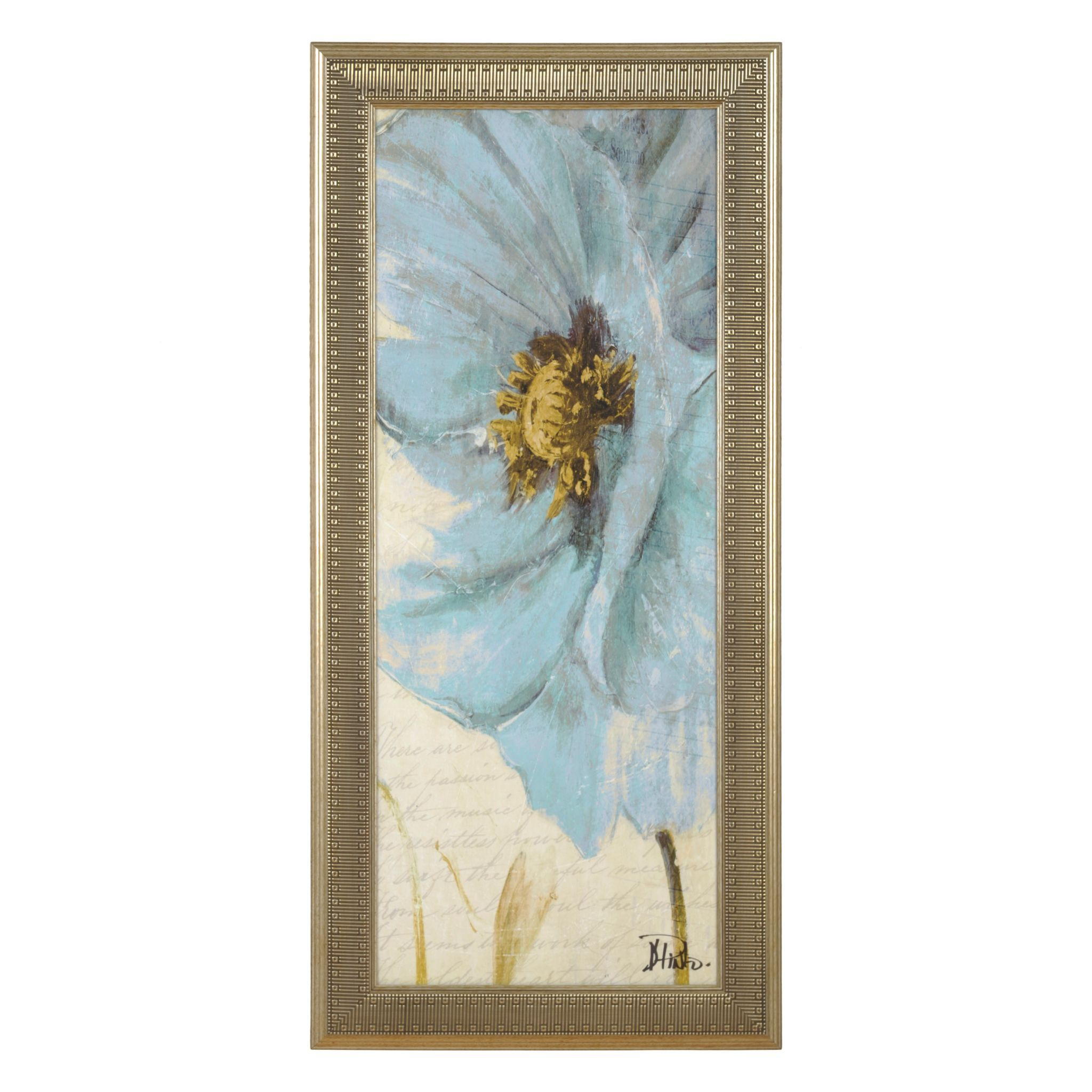 Blue Poppy II Framed Art Print | Kirklands | Home Decor that I love ...