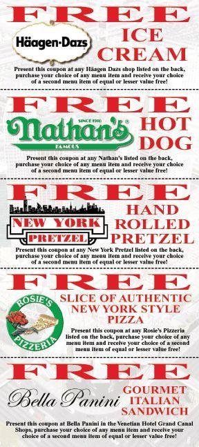 free printable las vegas dining coupons