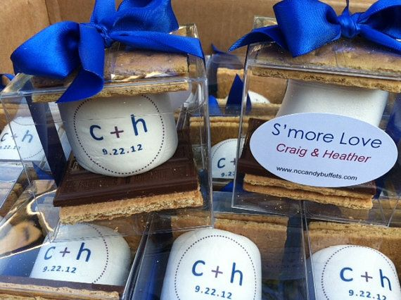 s\'mores kit wedding favor custom marshmallow unique guest party ...