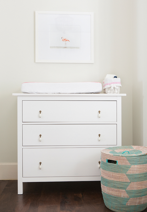 Nursery with ikea hemnes 3 drawer chest transitional Nursery chest of drawers with changer