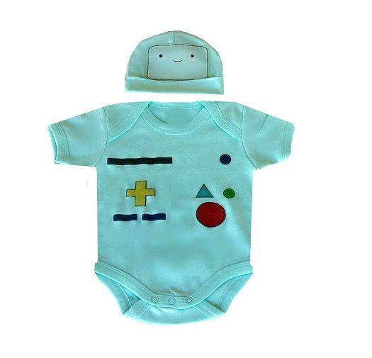 Adventure Time Finn Jake Cartoon Newborn Baby Romper Bodysuit Clothes Outfit Set