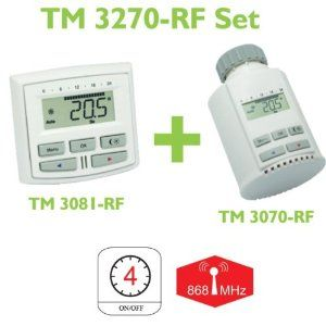 Technoline Tm 3270 Rf Thermostat Set Weiss Beste Angebot With Images Thermostat Setting Radiator Thermostat Thermostat