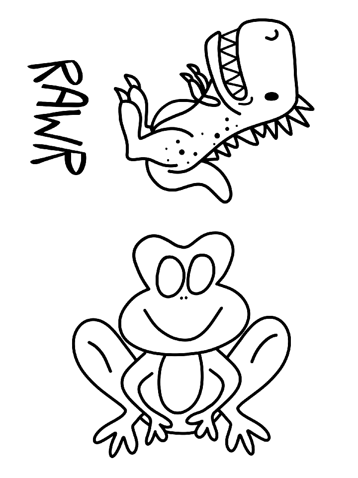 Cartoon Frog Coloring Pages Luxury Coloring Pages Dinosaur Frog Coloring Book Silk Screen Cartoons Cartoons In 2020 Frog Coloring Pages Coloring Books Coloring Pages