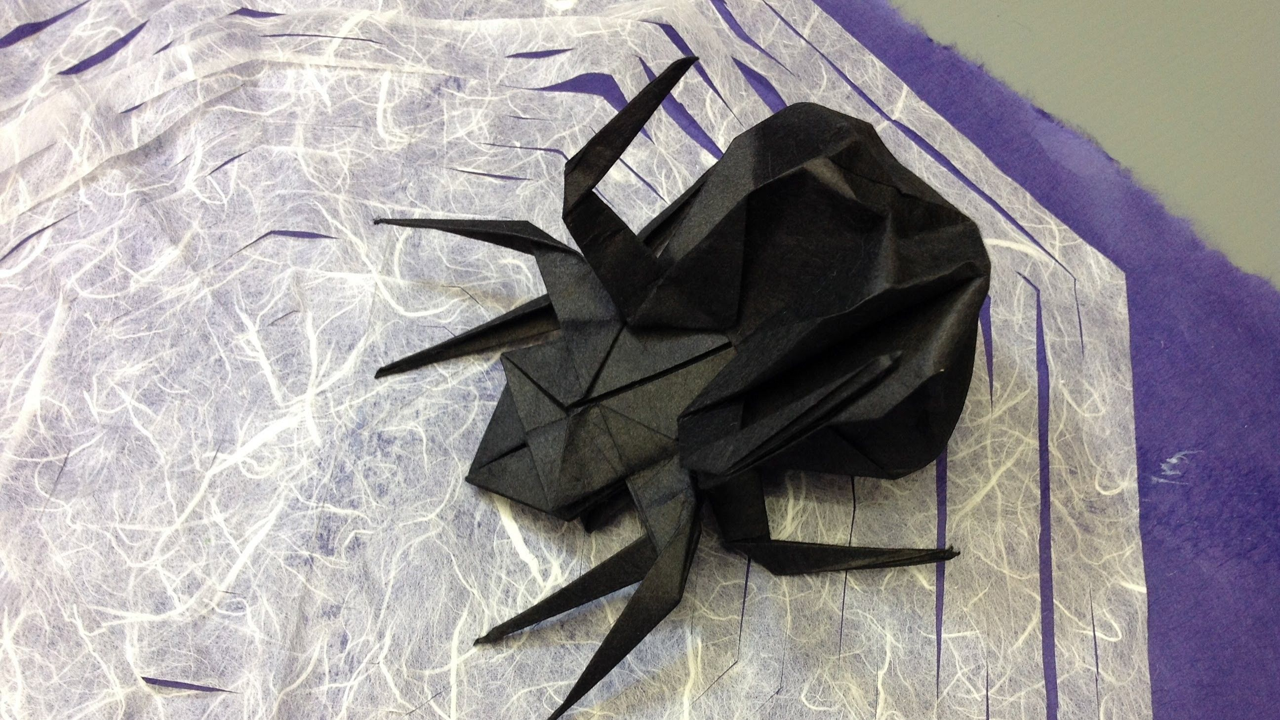 How To Make An Origami Halloween Spider And Web