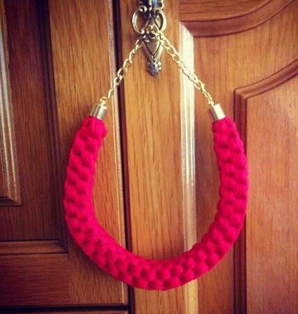 #collar #trapillo #rojo