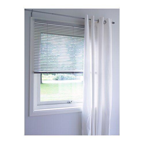 Merete Room Darkening Curtains 1 Pair Bleached White 57x98