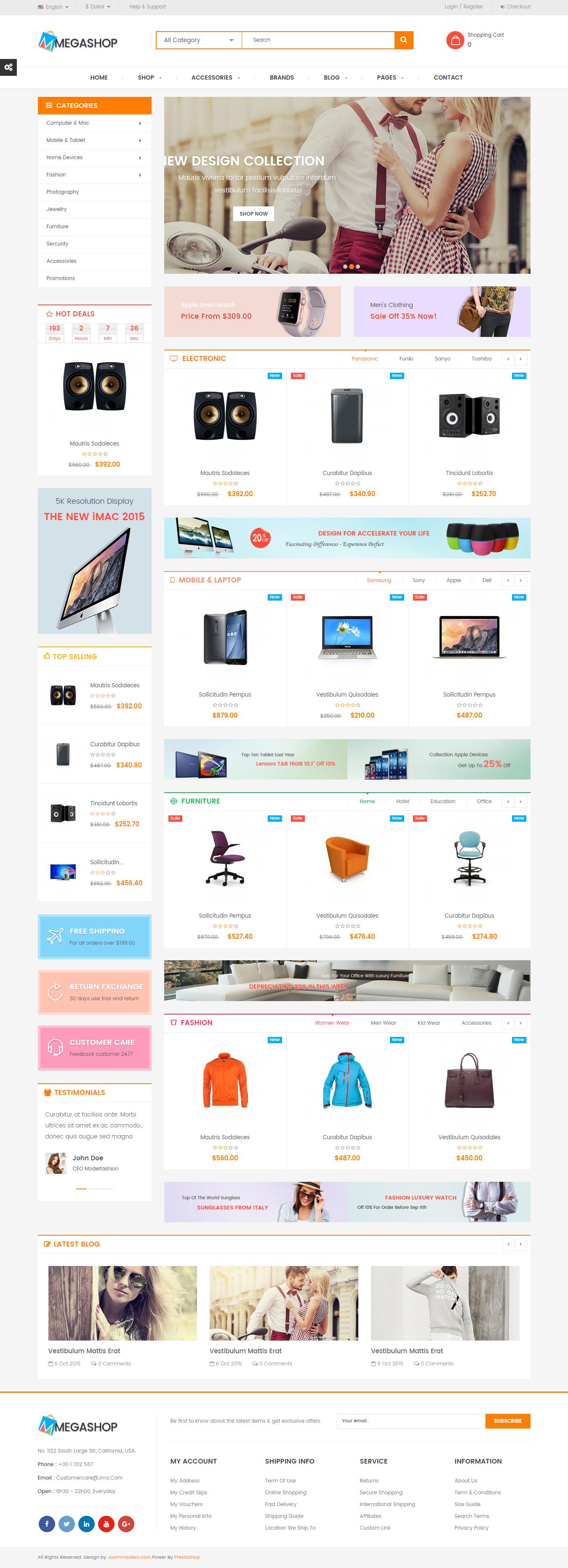 JMS Megashop - Responsive Prestashop Theme #eCommerce #website