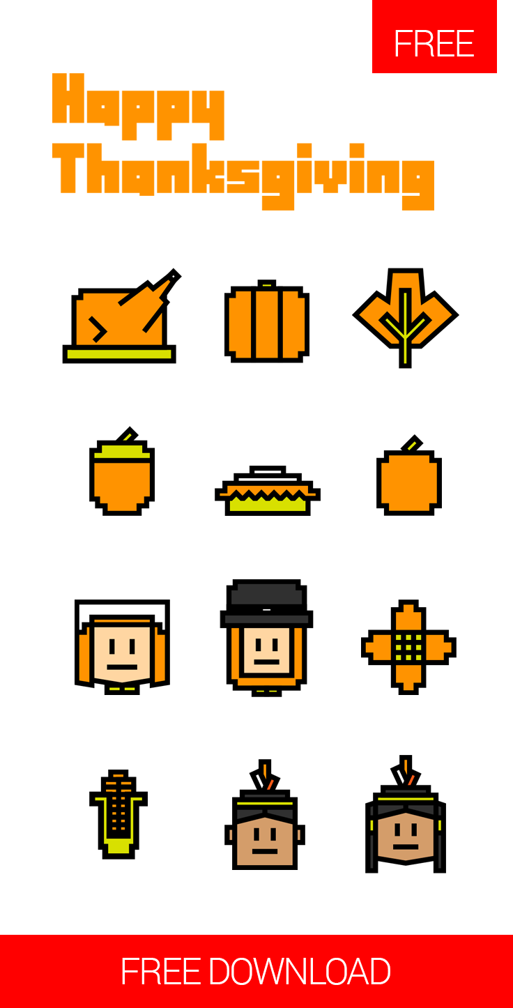 free happy thanksgiving icons available for free download at 4vector