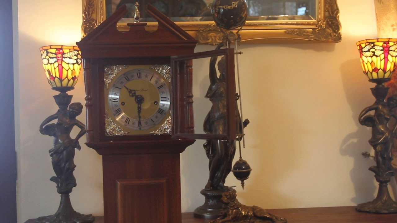 "Vintage ""Richard Broad"" Grandmother Clock with Westminster Chimes & Manual"