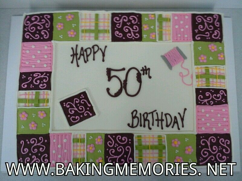 Quilt cake Quilted cake, Sewing cake, Birthday sheet cakes