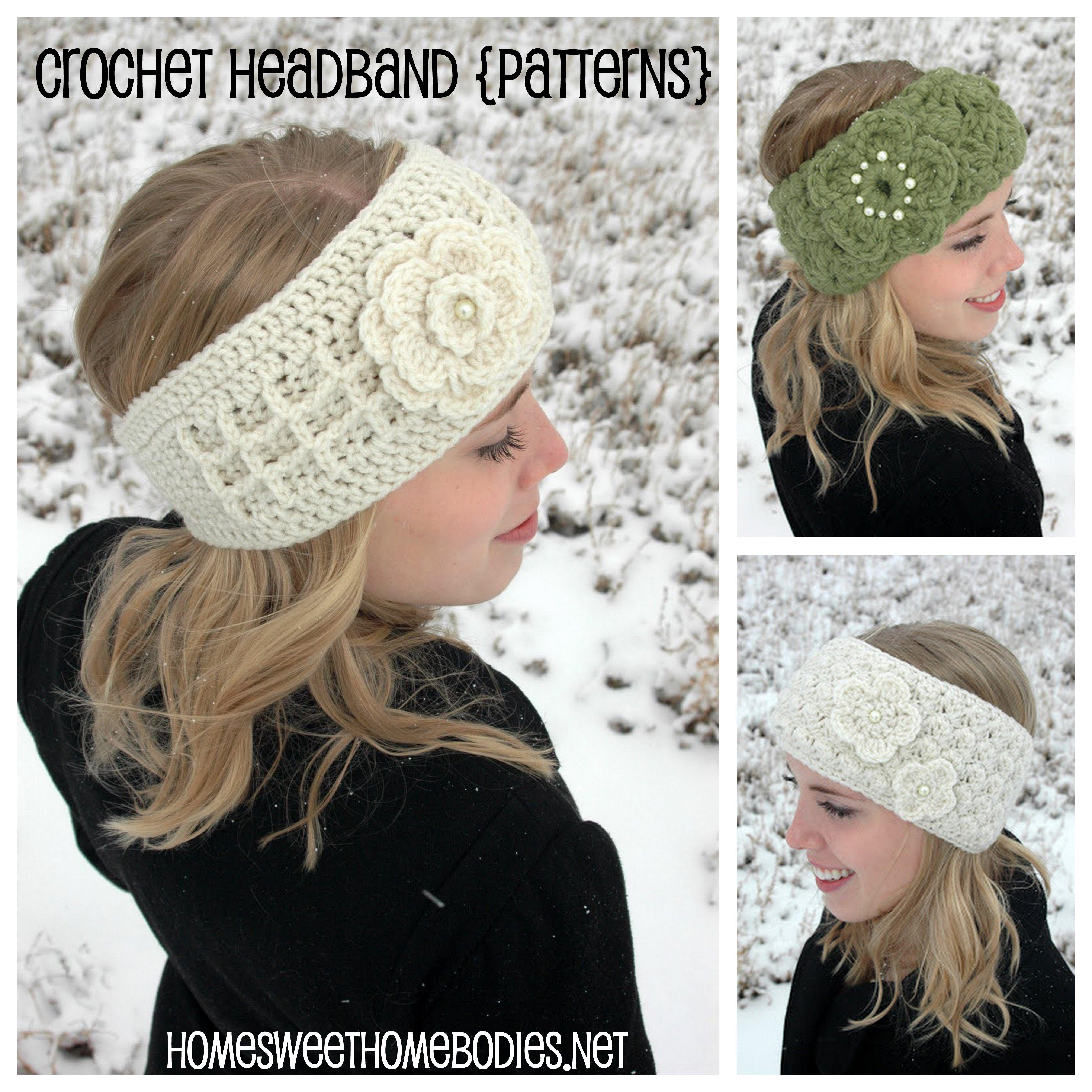 Crochet Heabands, Headbands, Etsy Shop, Headband Pattern, DIY | p ...