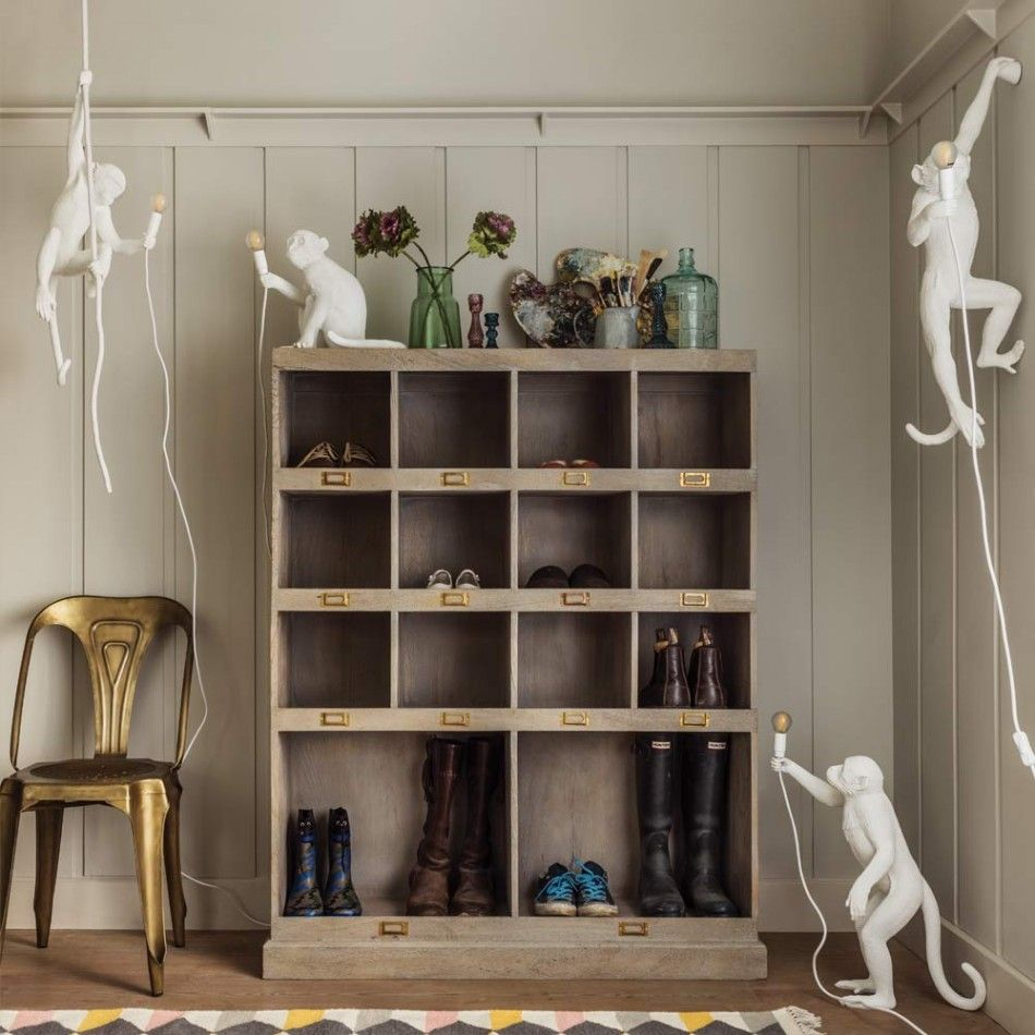Keep your home organised with this distressed grey storage unit. Useful for stowing away shoes boots and brollys the Tilly Storage Unit In Distressed Grey ... & Tilly Storage Unit In Distressed Grey | laundry/ boot room ...