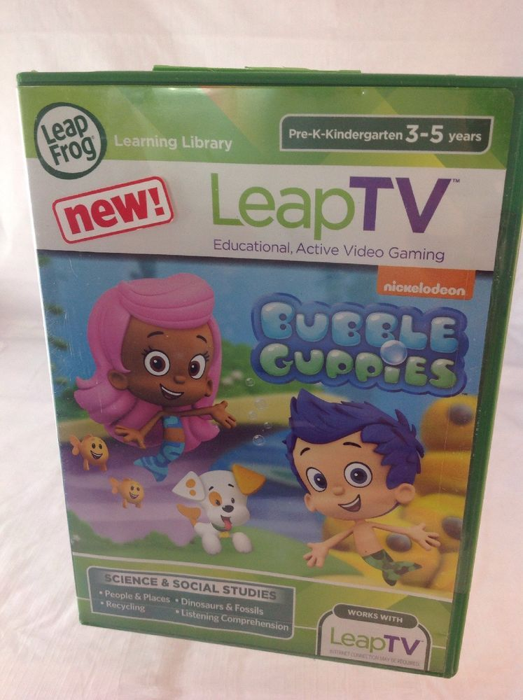 LeapFrog LeapTV Nickelodeon Bubble Guppies Educational Active Video