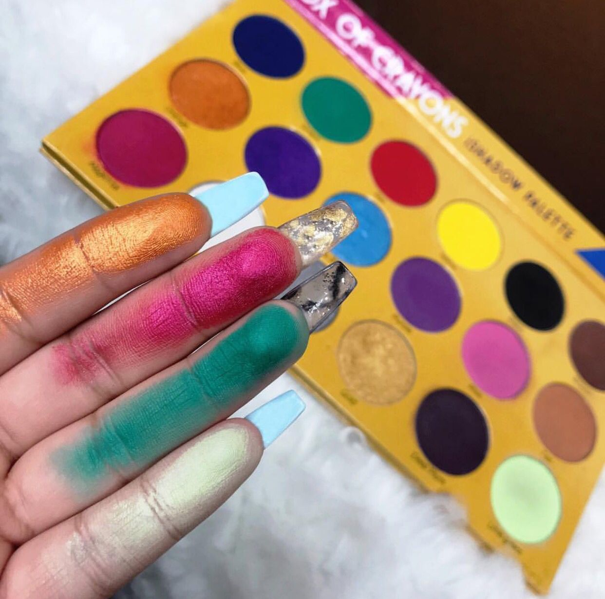 The box of crayons eyeshadow palette (With images) Shade