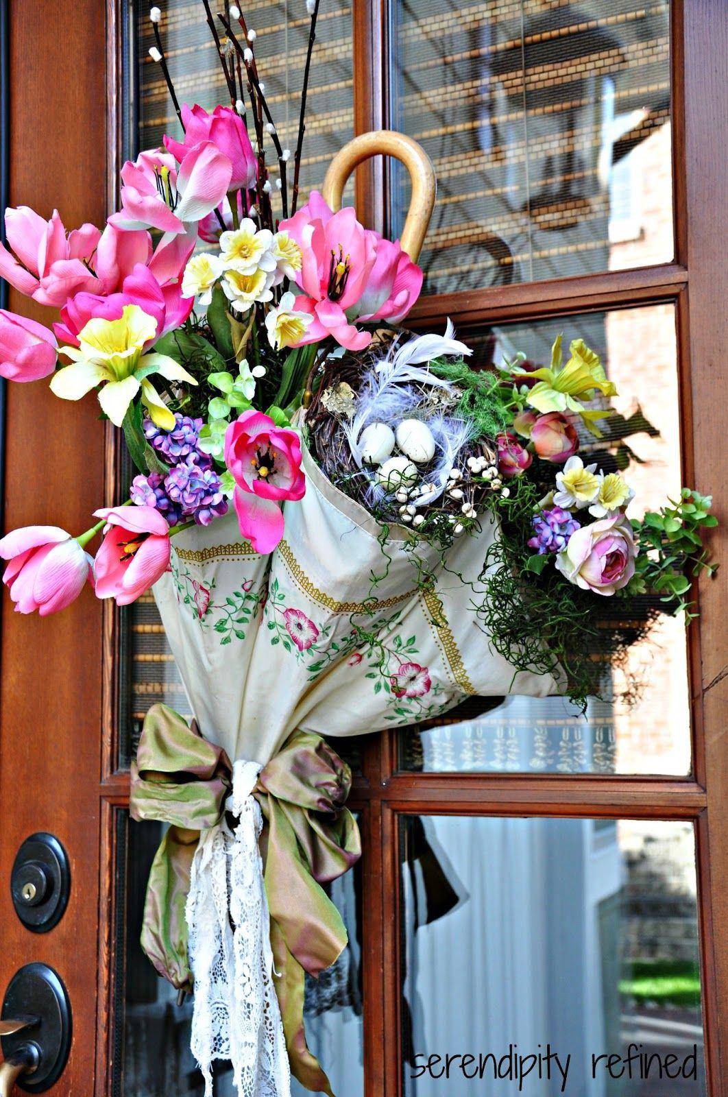 Spring Umbrella Door Decoration | Umbrella Transformation ...