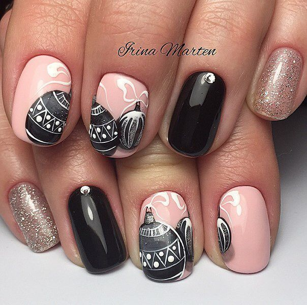 Pin by sofiya cherkas on nails design pinterest winter nails christmas nail designs christmas nail art winter nail art winter nails nail art designs nails design xmas nails holiday nails pretty nails prinsesfo Image collections
