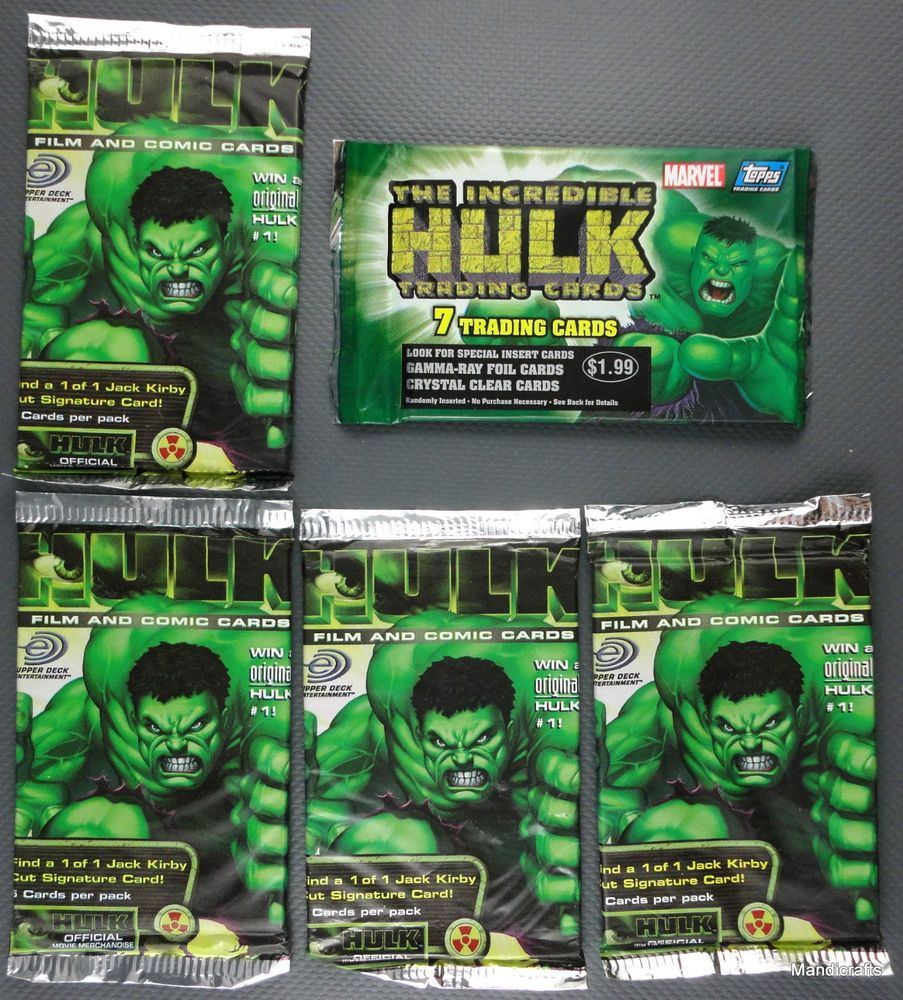 Lot of 4 The Incredible Hulk TV show sticker trading cards Artist Trading Cards