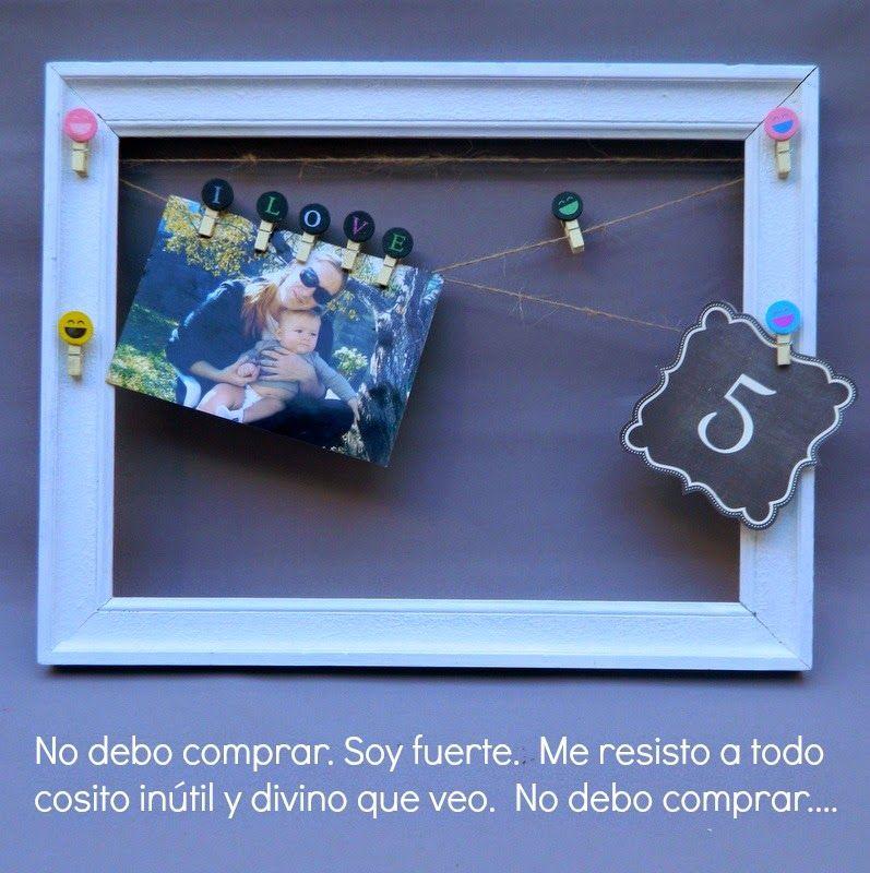 Marco reciclado para atesorar recuerdos. | HACER CUADROS FACILES ...