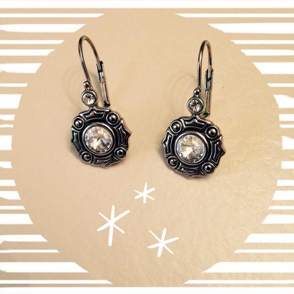 ⭐️Earrings⭐️HP Pretty silver and crystal earrings Jewelry Earrings