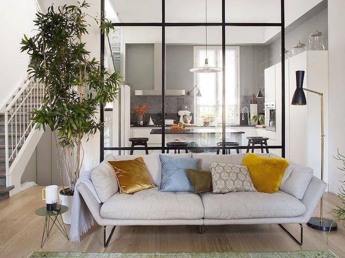 Separation Cuisine Salon Coulissez Une Porte Ouverte Design D