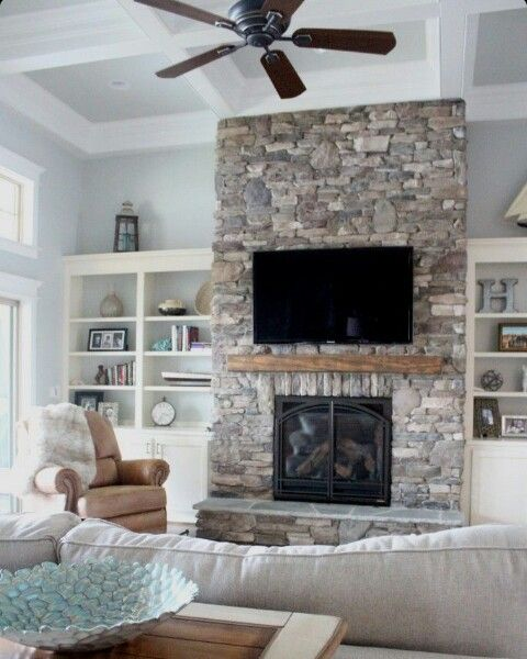 resurface fireplace with stone. Stone Fireplace  Home Sweet Pinterest Fireplaces