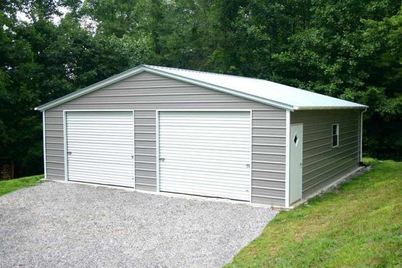 Steel Building 24x24 Simpson Metal Building Kit Garage Workshop Structure Prefab Prefab Metal Garage Prefab Garages Garage Design