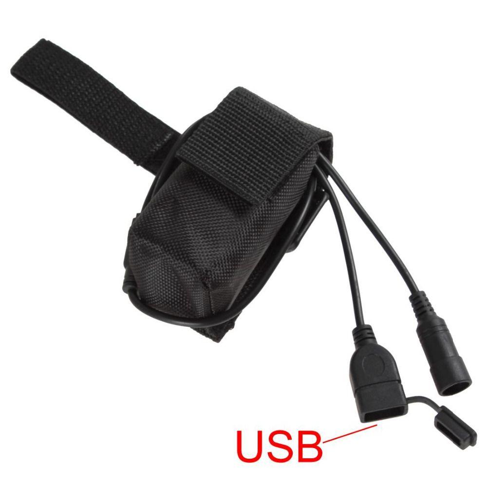 4.2 V 5200 mAh Batteria Ricaricabile con DC e Porte USB per Bicyle Luce/Telefoni Cellulari Sono Costituiti Da 4 Batterie