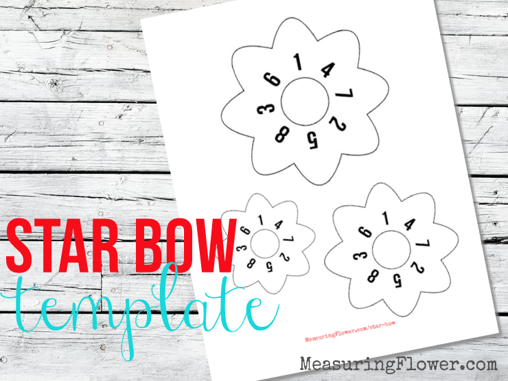Discover How To Make A Beautiful Star Gift Bow With Any Ribbon Of Your Choice Free Printable Template Guide Available
