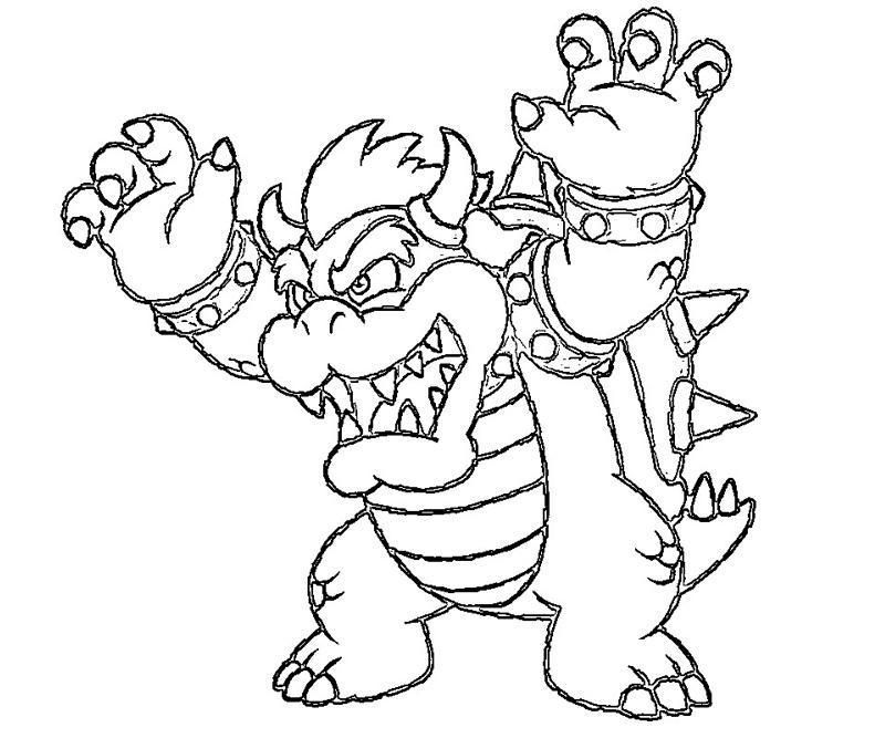 Bowser Jr Coloring Pages Print Coloring Home Super Mario Coloring Pages Princess Coloring Pages Coloring Pages