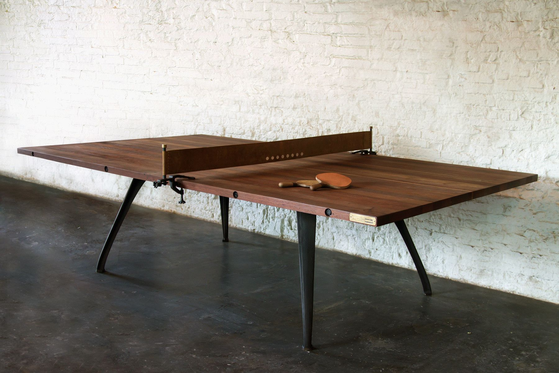 Hello Vietnam Industrial Chic Design Irwin Weiner Interiors Ping Pong Table Modern Dining Room Tables Dining Table