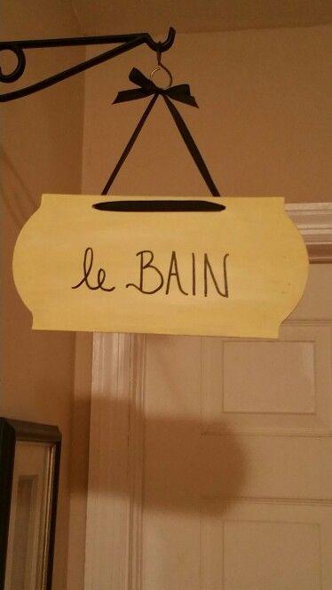 """""""The Bath""""  sign for hall bathroom"""