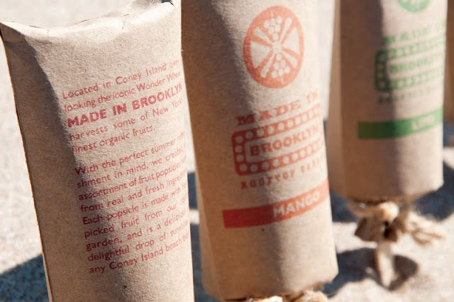 Made In Brooklyn Rooftop Garden Popsicles (Student Project) on Packaging of the World