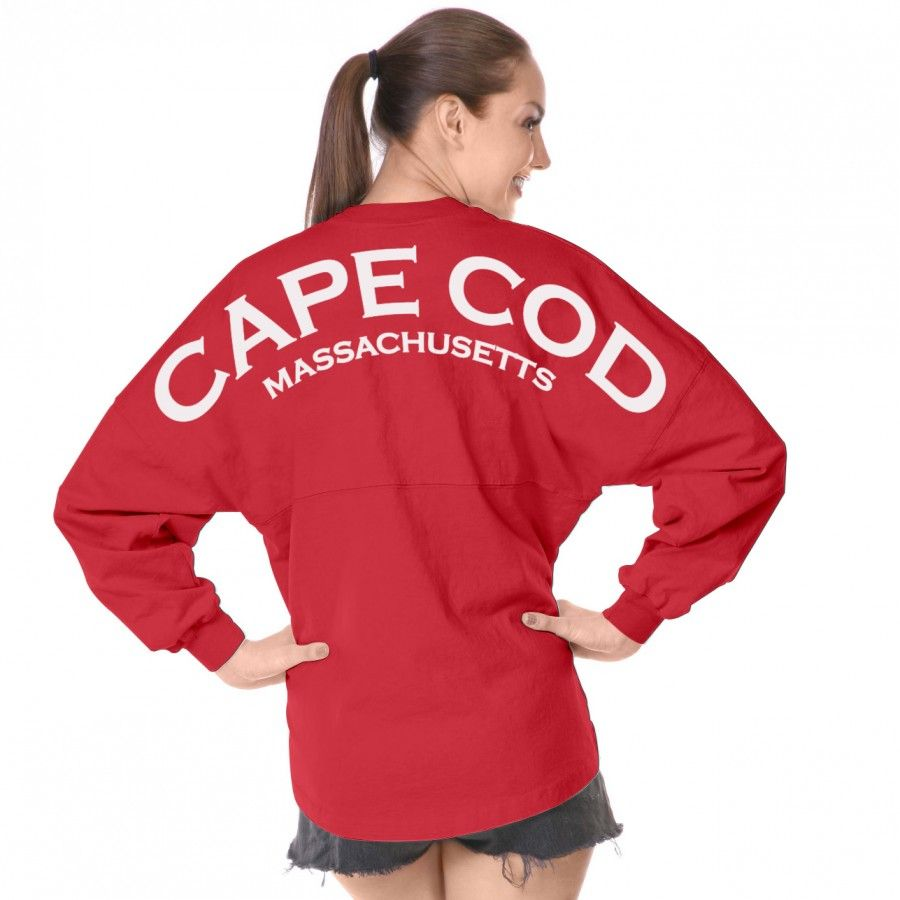 Lovely Cape Cod Clothes Part - 8: Cape Cod Massachusetts Spirit Jersey® Coral 13-XS-White