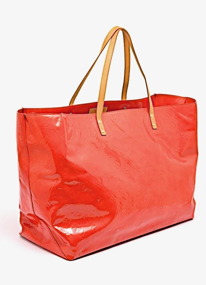 fbfe0a2d6238 Louis Vuitton Vuitton Monogram Vernis Patent Tote in Red