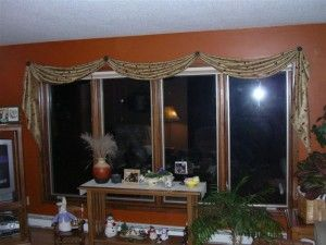 Scarf Valance Installed With Brackets Or Scarf Holders Instead Of