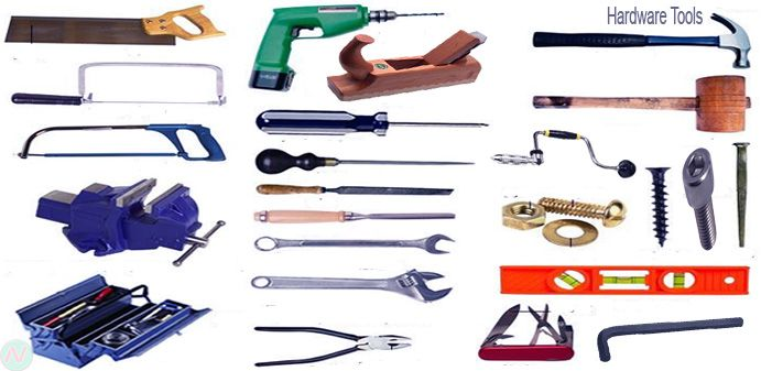 Hardware Tools Names With Necessary Vocabulary Meaning Image