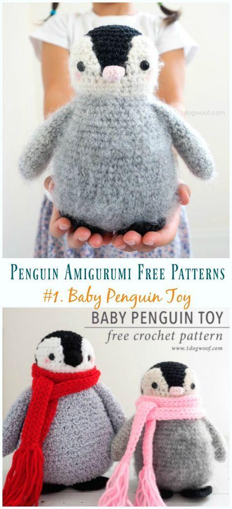 Crochet Baby Penguin Amigurumi Free Pattern #crochetanimals
