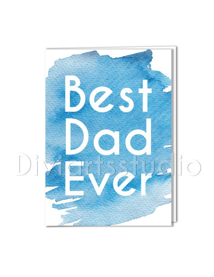 Best Dad Ever Fathers Day Card Fathers Day Gift From Daughters