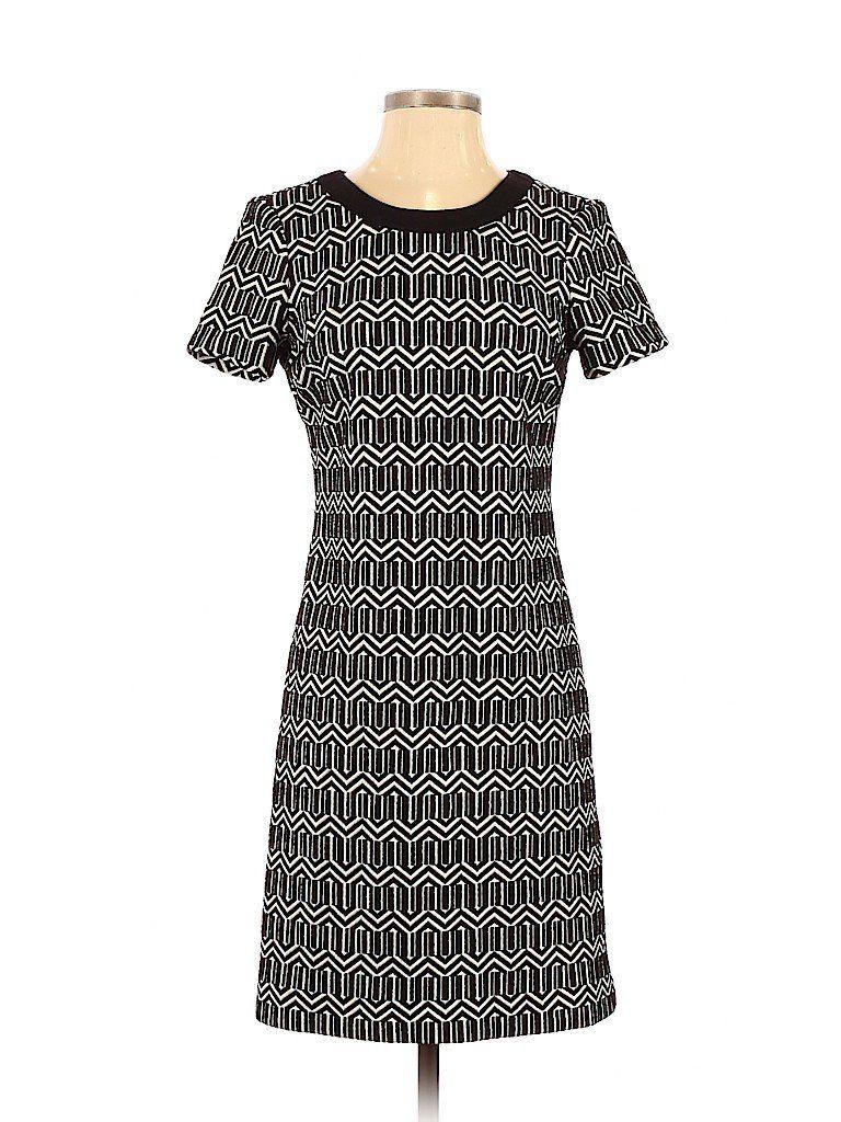Photo of Banana Republic Casual Dress – Bodycon: Black Print Dresses – Used – Size 4