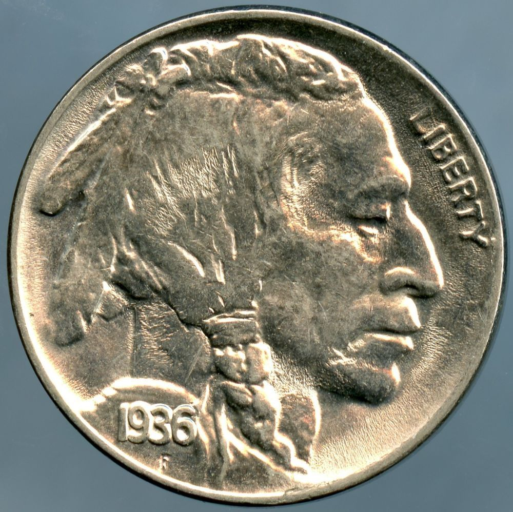 5c Indian Head Buffalo Nickel US Coin AU About Uncirculated Random Date