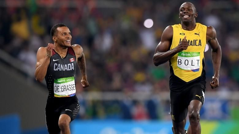 The champ and the kid: Bolt, De Grasse steal spotlight ahead of 200 final